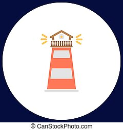Lighthouse computer symbol