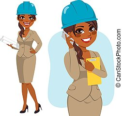 Architect Black Woman - Architect black woman character...
