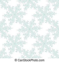 kaleidoscopic floral pattern - Hand drawn Vector abstract...