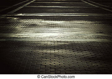 background city toned cobbles - background and texture of a...