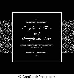 Vector Black Square Frame - Vector square frame with sample...