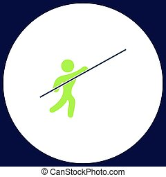 Pole vault computer symbol - Pole vault Simple vector...