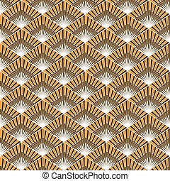 Seamless pattern with warm colors. Geometric pattern.