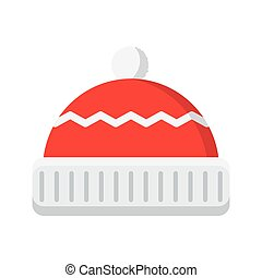 winter hat icon - illustration of isolated winter hat on...