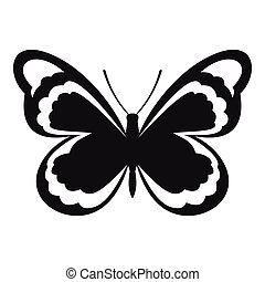 Small butterfly icon, simple style - Small butterfly icon....