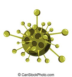 Virus cell icon, isometric 3d style - Virus cell icon....