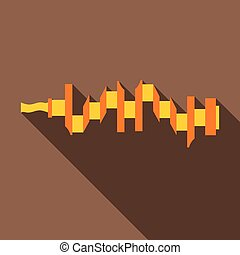 Crankshaft icon, flat style - icon. Flat illustration of...