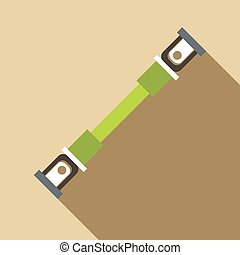Safety seatbelt icon, flat style - icon. Flat illustration...
