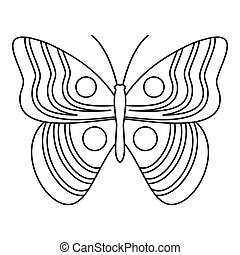 Light butterfly icon, outline style - Light butterfly icon....