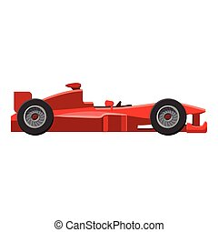 Sport car side view icon, isometric 3d style - Sport car...