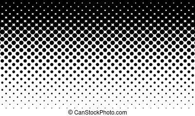 Black Dots Halftone Pattern. - Black dots pattern on white....