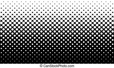 White Dots Halftone Pattern. - White dots pattern on black....