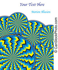 Zigzag Revolutions motion illusion - Zigzag-patterned wheels...
