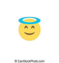 Flat style emoticon emoji angel