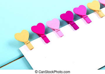colored pegs heart - colorful clothespins in a heart shape...