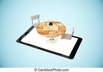 Order food online concept
