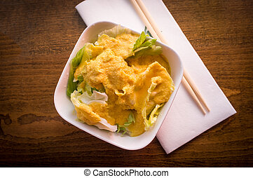 Miso Ginger Dressing Salad - Miso ginger dressing Japanese...