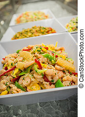 Shrimp Ceviche Salad - Chilled shrimp ceviche salad in...