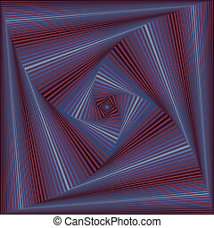 Whirling sequence with square forms - Concentric square...