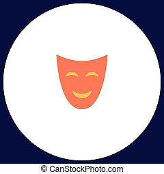 comedy mask computer symbol - comedy mask Simple vector...