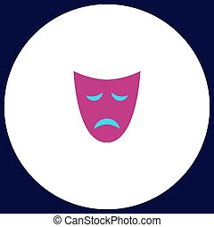 tragedy mask computer symbol - tragedy mask Simple vector...