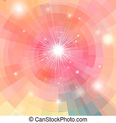 Abstract bright colorful kaleidoscope background with...