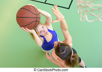 women basketball players