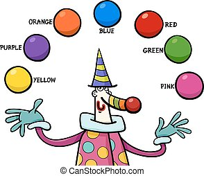 primary colors educational activity - Cartoon Illustration...