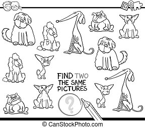 educational activity coloring page - Black and White Cartoon...