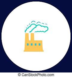 power plant computer symbol - power plant Simple vector...