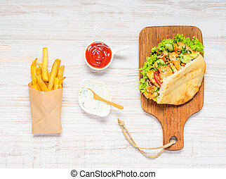 Turkish Kebab with French Fries