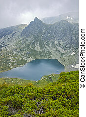 The Seven Rila Lakes, Bulgaria - Clouds over The Twin lake,...