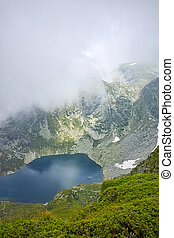 The Seven Rila Lakes, Bulgaria - Amazing view with Fog over...
