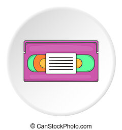 Video cassette icon, cartoon style - Video cassette icon....