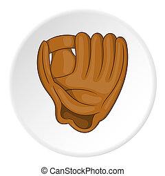 Baseball glove icon, cartoon style - icon. ?artoon...