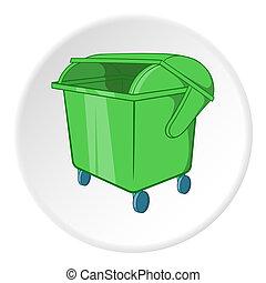 Dumpster icon, cartoon style - Dumpster icon. Cartoon...