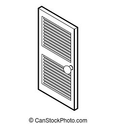 Door with horizontal vent icon, outline style - icon in...