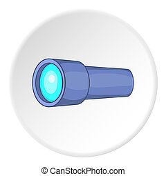 Monocular icon, cartoon style - icon. ?artoon illustration...