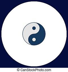 Ying yang computer symbol - Ying yang Simple vector button....