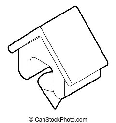 Location of the house , outline style - icon in outline...
