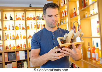 buying expensive liquor