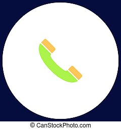 handset computer symbol - handset Simple vector button....