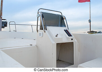 Inside of a White Boat