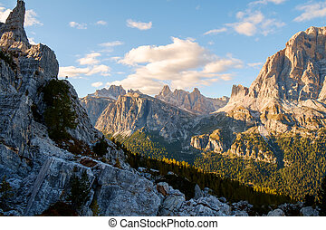 Typical mountain landscape in the Dolomites in Italy