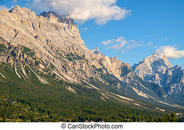 Typical mountain landscape in the Dolomites in Italy,Europe