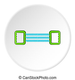 Spring expander icon, cartoon style - Spring expander icon....
