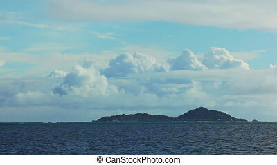 Time lapse of landscape at Seychelles islands - Time lapse...