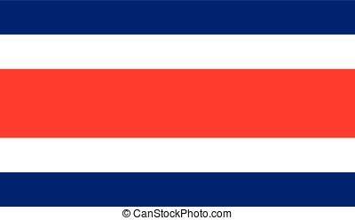 Costa Rica flag, vector
