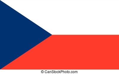 Czech Republic flag, vector