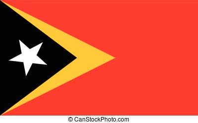 East Timor flag, vector